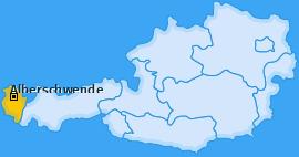 Karte von Alberschwende