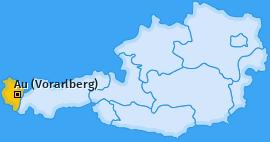 Karte von Au (Vorarlberg)