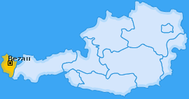 Karte von Bezau