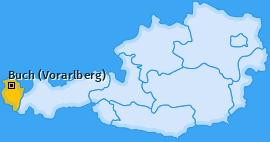 Karte von Buch (Vorarlberg)