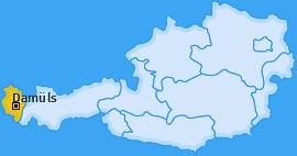 Karte von Damüls