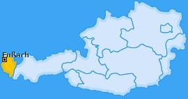 Karte von Fußach