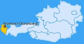 Karte von Krumbach (Vorarlberg)