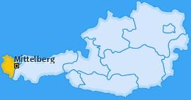 Karte von Mittelberg
