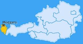 Karte von Möggers