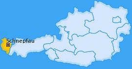 Karte von Schnepfau