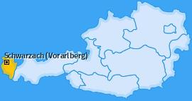 Karte von Schwarzach (Vorarlberg)