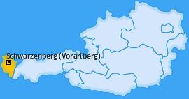 Karte von Schwarzenberg (Vorarlberg)