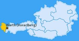 Karte von Warth (Vorarlberg)
