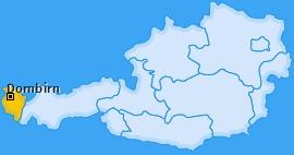Bezirk Dornbirn Landkarte