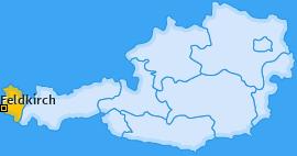 Bezirk Feldkirch Landkarte