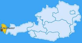 Karte von Frastanz