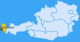 Karte Frastafeders Frastanz
