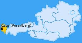 Karte von Klaus (Vorarlberg)