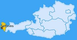 Karte von Satteins