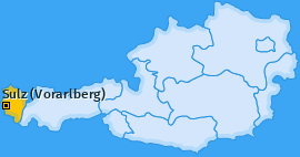 Karte von Sulz (Vorarlberg)
