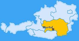 Bezirk Murtal Landkarte