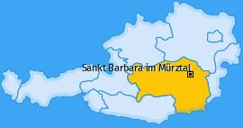 Karte von Sankt Barbara im Mürztal