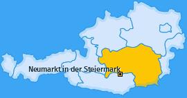 Karte von Neumarkt in der Steiermark
