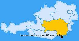 Karte von Leutschach an der Weinstraße