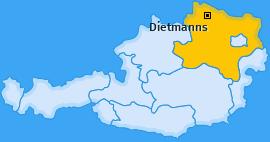 Karte von Dietmanns