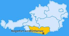 Karte von Klagenfurt am Wörthersee