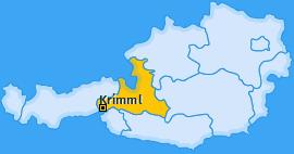 Karte von Krimml