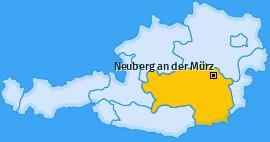 Karte von Neuberg an der Mürz
