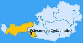 Karte von Prägraten am Großvenediger