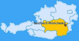 Karte von Waldbach-Mönichwald