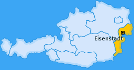 Karte Kleinhöflein im Burgenland Eisenstadt