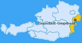 Bezirk Eisenstadt-Umgebung Landkarte
