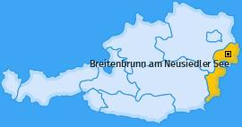 Karte von Breitenbrunn am Neusiedler See