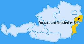Karte von Purbach am Neusiedler See