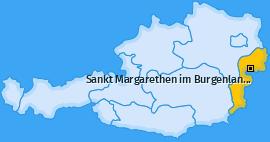 Karte von Sankt Margarethen im Burgenland