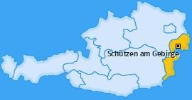 Karte von Schützen am Gebirge