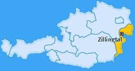 Karte von Zillingtal