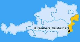 Karte von Burgauberg-Neudauberg