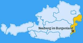 Karte von Neuberg im Burgenland