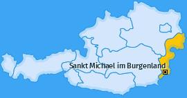 Karte von Sankt Michael im Burgenland