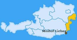 Karte von Minihof-Liebau