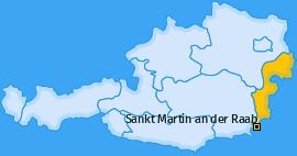 Karte von Sankt Martin an der Raab