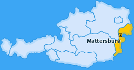 Bezirk Mattersburg Landkarte