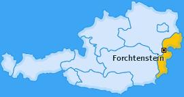 Karte von Forchtenstein