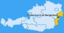 Karte von Loipersbach im Burgenland