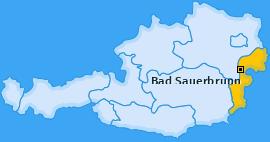 Karte von Bad Sauerbrunn