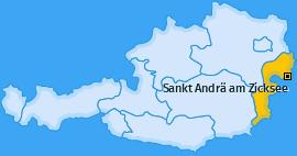 Karte von Sankt Andrä am Zicksee