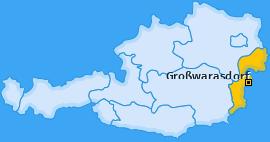 Karte von Großwarasdorf