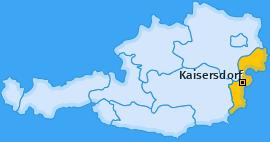 Karte von Kaisersdorf