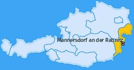 Karte von Mannersdorf an der Rabnitz
